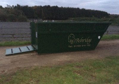 8 yard muck heap container